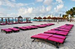 Kust på Cancun, Mexico fotografering för bildbyråer