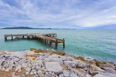 Kust på den Rayong stranden Arkivbilder