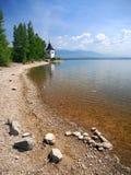 Kust på Liptovska Mara sjön, Slovakien royaltyfri foto