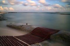 Kust på Playa del Carmen Arkivfoto
