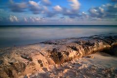 Kust på Playa del Carmen Arkivbilder