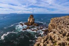 Kust in Peniche - Portugal Royalty-vrije Stock Foto