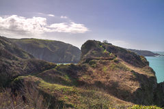 Kust- plats på Sark Arkivfoto