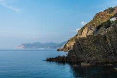 Kust in Portovenere Ligurië Italië royalty-vrije stock afbeelding
