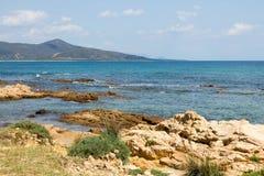 Kust in Sardinige Royalty-vrije Stock Afbeeldingen