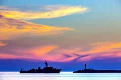 Kust- seascape på Blacket Sea, Sochi, Ryssland royaltyfria foton