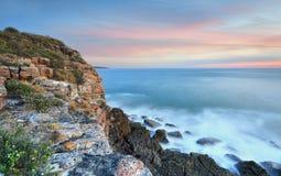 Kust- seascapesikter på skymning Australien Royaltyfria Bilder