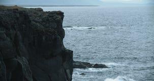 Kust- sikt, Hellnar, Island arkivfilmer