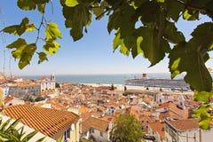 Kust- sikter, Lissabon, Portugal Fotografering för Bildbyråer