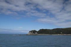 Kust- sikter och vaggar av Nya Zeeland D Y Arkivfoto
