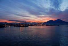 kust- soluppgångsikt Arkivbild
