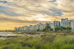 Kust- stads- plats, Montevideo, Uruguay Arkivbilder