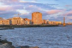Kust- stads- plats, Montevideo, Uruguay Royaltyfri Fotografi