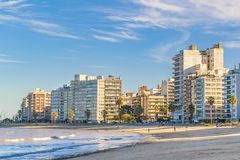 Kust- stads- plats, Montevideo, Uruguay Arkivfoto