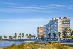 Kust- stads- plats, Montevideo, Uruguay Fotografering för Bildbyråer