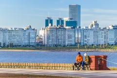 Kust- stads- plats, Montevideo, Uruguay Royaltyfria Foton