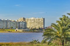 Kust- stads- plats, Montevideo, Uruguay Arkivbild