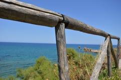 Kust- staket Fotografering för Bildbyråer
