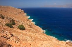 kust steniga crete Arkivfoto