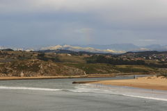 Kust in Suances, Santander Cantabrië Stock Foto