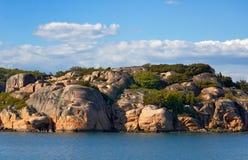 kust sweden Arkivbild