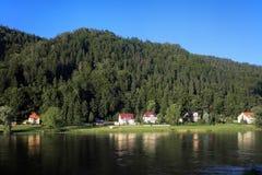 kust switzerland för elbe flodsaxon Royaltyfria Bilder