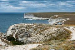 Kust Tarhankut, Dzhangul Krim Ryssland Royaltyfri Foto