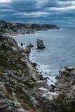Kust Tarhankut, Dzhangul Krim Ryssland Arkivfoto