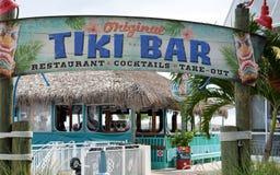 Kust- Tiki Bar Restaurant Arkivbild