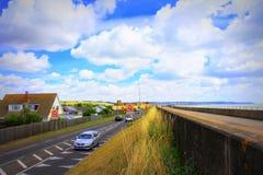 A259 kust- väg Dymchurch Kent UK Arkivbilder