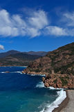 kust västra corsica Arkivbilder