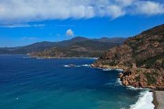 kust västra corsica Royaltyfri Foto