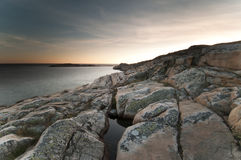 kust västra sweden Arkivbild