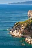 Kust- vaggar av Adriatiskt havet arkivfoto