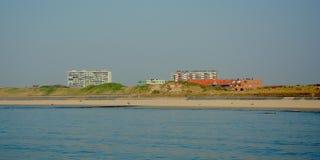 Kust van van Bredene -bredene-aan-zee, Vlaanderen, België royalty-vrije stock afbeelding