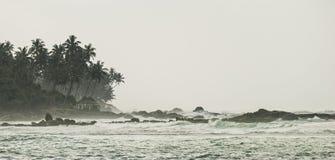 Kust van de Indische Oceaan - Sri Lanka Royalty-vrije Stock Fotografie