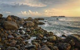 Kust van de Indische Oceaan - Sri Lanka Stock Afbeeldingen