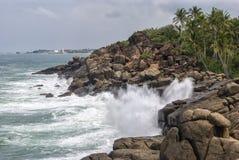 Kust van de Indische Oceaan - Sri Lanka Royalty-vrije Stock Afbeeldingen