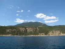 Kust van de Krim (Gurzuf, Yalta) stock foto's