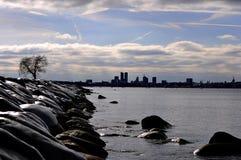 Kust van de stad van Tallinn Stock Afbeelding