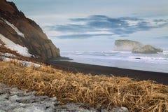 Kust van de Vreedzame Oceaan, Kamchatka Royalty-vrije Stock Fotografie