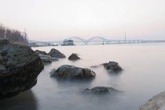Kust van de Yangtze-Rivier royalty-vrije stock foto
