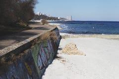 Kust van de Zwarte Zee, Odessa royalty-vrije stock foto