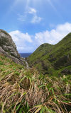 Kust van een eiland in Zuid-Japan Stock Afbeelding