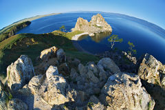 Kust van Eiland Olkhon bij het Meer van Baikal royalty-vrije stock fotografie