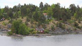 Kust van fjord, Scandinavië Stockholm, Zweden stock video