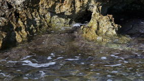 Kust van het Adriatische overzees stock footage