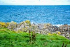 Kust van het Eiland Man van Schilheuvel in Schil, het Eiland Man stock fotografie