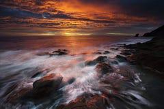 Kust van het natuurreservaat van Cabo DE Gata Stock Foto