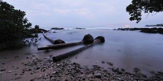 Kust van Kona van het Eiland van Hawaï de Grote vroege ochtend Stock Foto